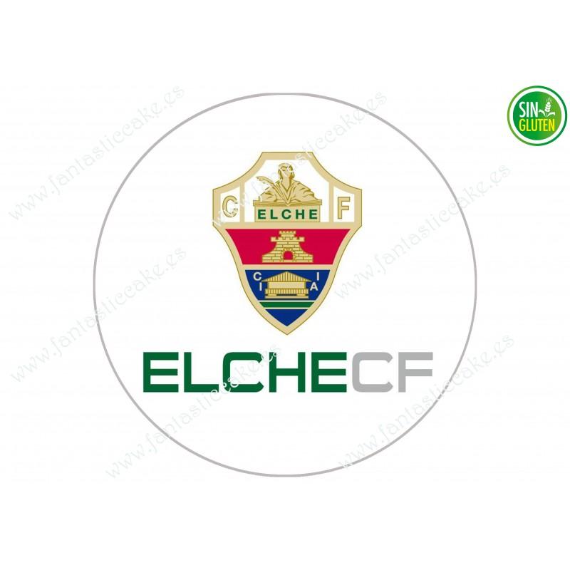 Oblea para tarta Elche Club de Futbol - papel de azúcar para tarta Elche Club de Futbol - sin gluten - Fantastic cake