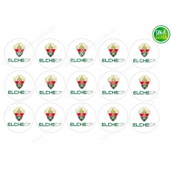 Oblea para Galletas Elche Club de Futbol - papel de azúcar para Galletas Elche Club de Futbol - sin gluten - Fantastic Cake