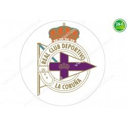 Oblea para tarta Real Club La Coruña - Papel de azúcar para tarta Real Club La Coruña - sin gluten - Fantastic Cake