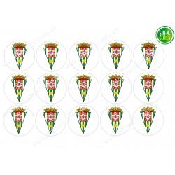 Oblea para Galletas Córdoba Club de Fútbol - papel de azúcar para Galletas Córdoba Club de Fútbol - sin gluten - Fantastic Cake