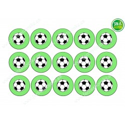 Oblea para Galletas Fútbol - papel de azúcar para Galletas Fútbol - sin gluten - fantastic Cake