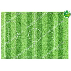 Oblea para tarta Campo de Fútbol Rectangular - papel de azúcar para tarta Campo de Fútbol Rectangular - sin gluten