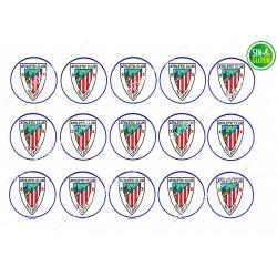 Oblea para Galletas Fútbol Atletic Club Bilbao - papel de azúcar para Galletas Fútbol Atletic Club Bilbao - sin gluten