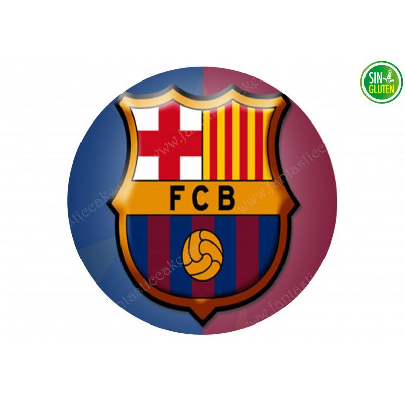 Oblea para tarta Fútbol Club Barcelona - papel de azúcar para tarta Fútbol Club Barcelona - sin gluten - Fantastic cake