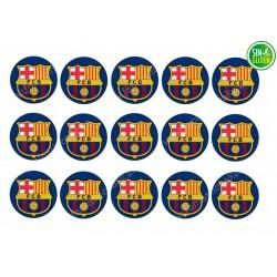 Oblea para Galletas Fútbol Club Barcelona - papel de azúcar para Galletas Fútbol Club Barcelona - sin gluten - Fantastic Cake
