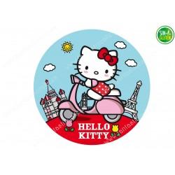 Oblea para tarta Redonda Hello Kitty - papel de azúcar para tarta Redonda Hello Kitty - sin gluten - Fantastic cake