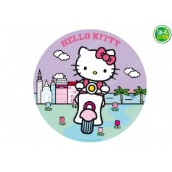 Oblea para tarta Hello Kitty - papel de azúcar para tarta Hello Kitty - sin gluten - Fantastic Cake