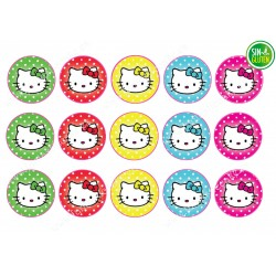 Obleas comestible para Galletas Hello Kitty - papel de azúcar comestible para Galletas Hello Kitty - sin gluten - Fantastic cake