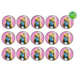 Obleas para Galletas Los Pitufos - papel de azúcar para Galletas Los Pitufos - sin gluten - Fantastic Cake