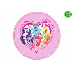 Oblea comestible para tarta My Little Pony - papel de azúcar comestible para tarta My Little Pony - sin gluten
