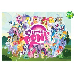 Impresión comestible Rectangular My Little Pony - papel de azúcar Rectangular My Little Pony - sin gluten