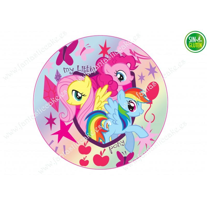 Impresión comestible para tarta My Little Pony - papel de azúcar comestible para tarta My Little Pony - sin gluten