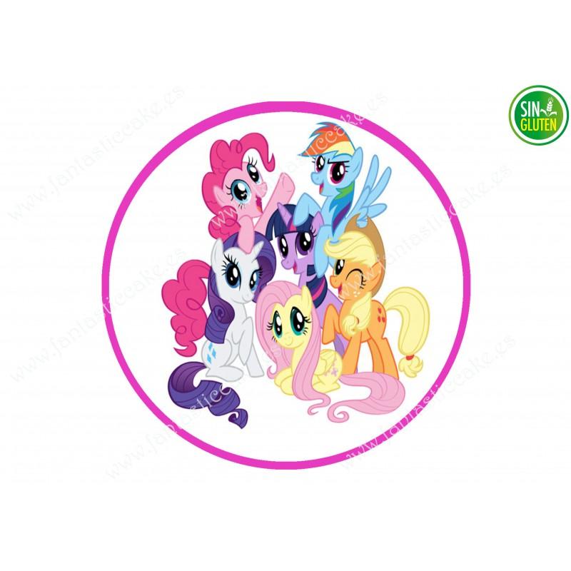Oblea para tarta My Little Pony - papel de azúcar para tarta My Little Pony - sin gluten - Fantastic Cake
