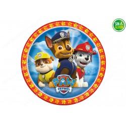 Oblea para tarta Chase, Rubble y Marshall La Patrulla Canina - papel de azucar para tarta Chase,  La Patrulla Canina