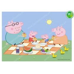 Impresión para tarta Familia Peppa Pig -papel de azúcar para tarta Familia Peppa Pig - sin gluten - fantastic Cake