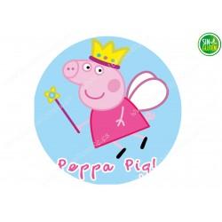 Oblea para tarta redonda Peppa Pig 2 - papel de azúcar para tarta redonda Peppa Pig 2 - sin gluten - Fantastic cake