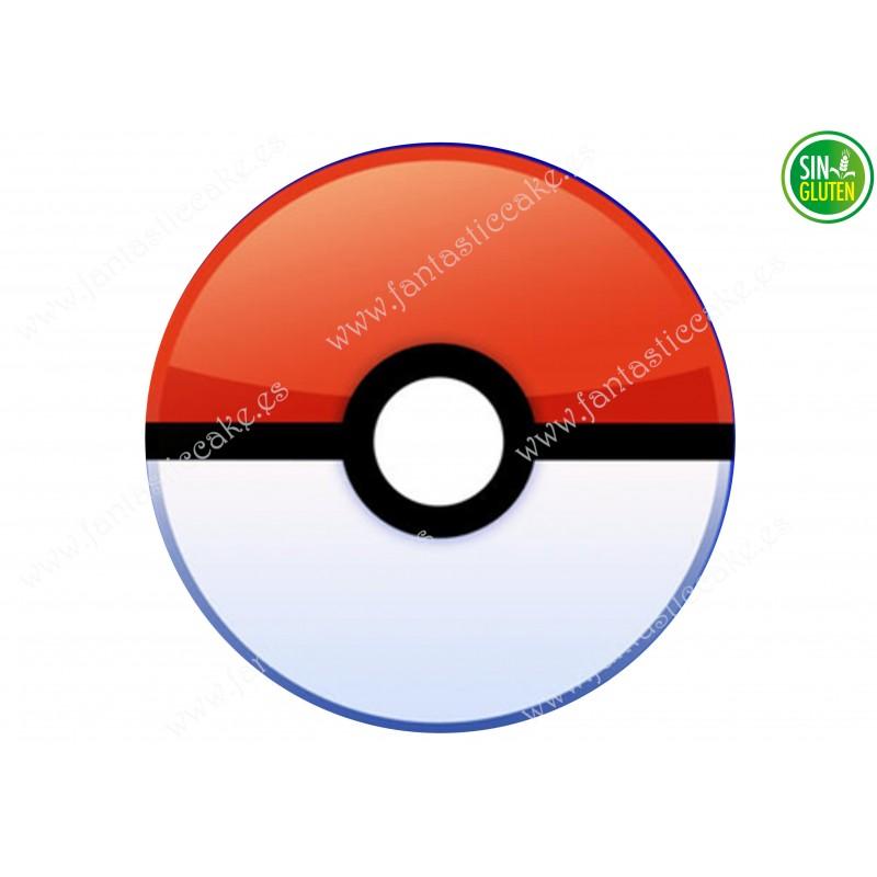 Oblea para tarta Bola de Pokémon