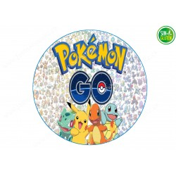 Oblea comestible para tarta Pokémon Go Nº 240