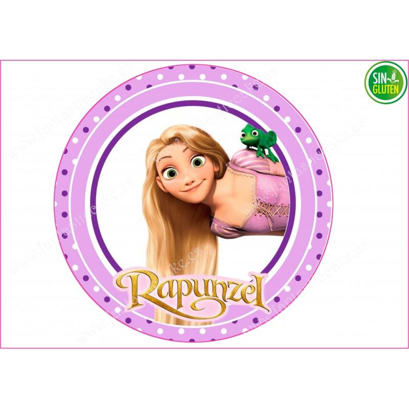 Oblea para tarta Rapunzel Nº 255