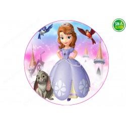 Oblea para tarta Princesa Sofía Nº 260