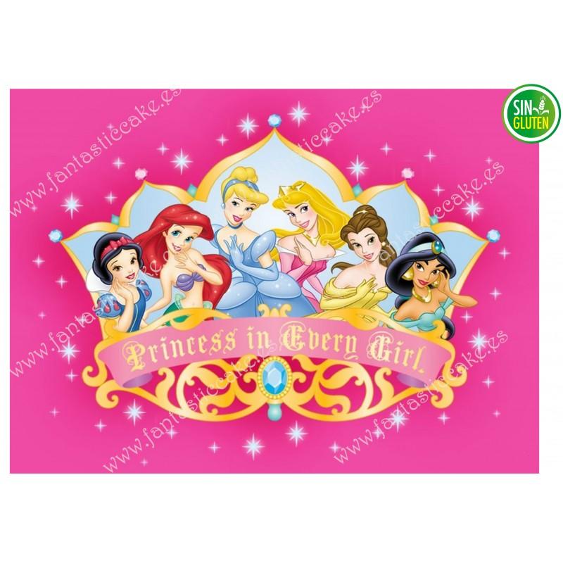 Oblea para tarta Princesas Disney Nº 262