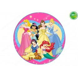 Oblea para tarta Princesas Nº 267