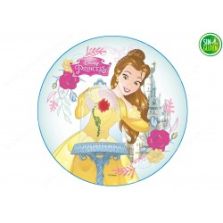 Oblea para tarta La Bella y La Bestia Nº 273