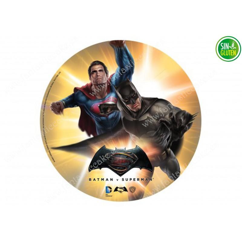 Oblea para Tarta Superman y Batman Nº 316