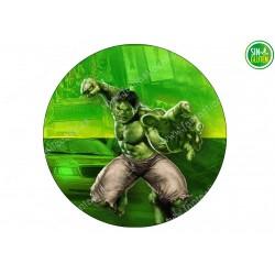 Oblea para Tarta Hulk Nº 319