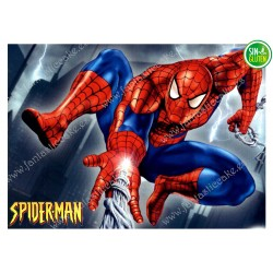 Oblea para tarta Spiderman rectangular Nº 326