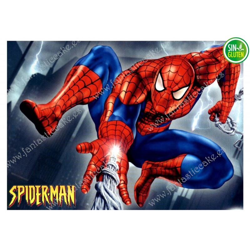Oblea para tarta Spiderman rectangular Nº 326