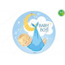 Oblea para tarta Bebé Chico Nº 360