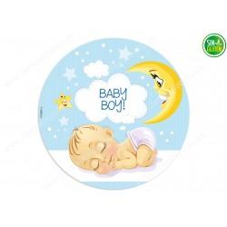 Oblea para tarta Bebé Niño Nº 361