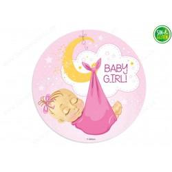 Oblea para tarta Bebé Niña Nº 362