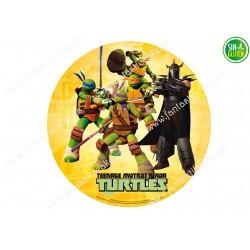 Obleas para tarta de las Tortugas Ninjas Nº 380