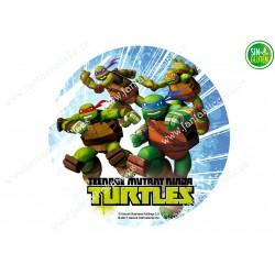 Oblea para tarta Tortugas Ninjas Nº 382