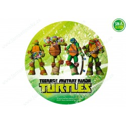 Oblea para tarta Tortugas Ninjas Nº 383