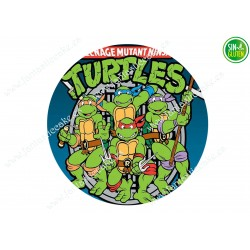 Oblea para tartas de las Tortugas Ninjas Nº 384
