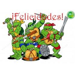 Oblea para tarta Tortugas Ninjas Nº 385