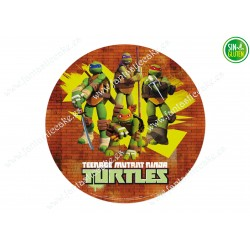 Oblea para tarta de las Tortugas Ninjas Nº 386