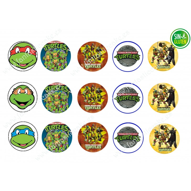 Obleas para Galletas Tortugas Ninjas Nº 387