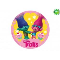 Oblea para tartas de Trolls Nº 394