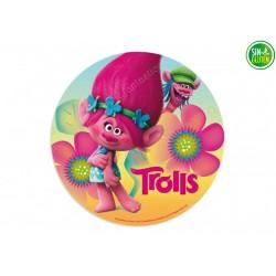 Oblea para tarta de Trolls - Poppy Nº 395