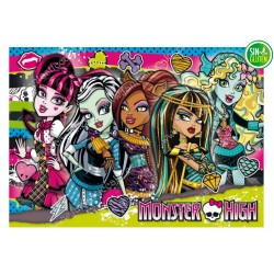 Oblea para tarta Monster High rectangular Nº 433
