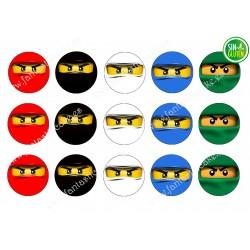 Obleas para Galletas Ninja Lego Nº 468