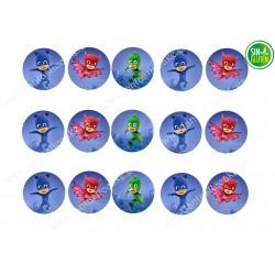 Pj Masks - Impresiones comestible para Galletas Nº 473