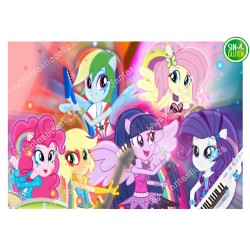 Oblea para tarta My Little Pony Nº 476