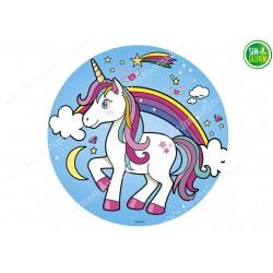 Obleas para tarta Unicornio Nº 481