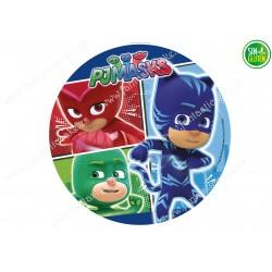 Oblea para tartas redonda Pj Masks Nº 490
