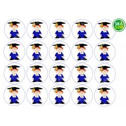 Obleas para Galletas Niño Graduación Nº 504